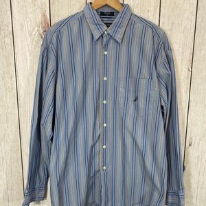 Nautica Long Sleeve Button Down Shirt Size Large